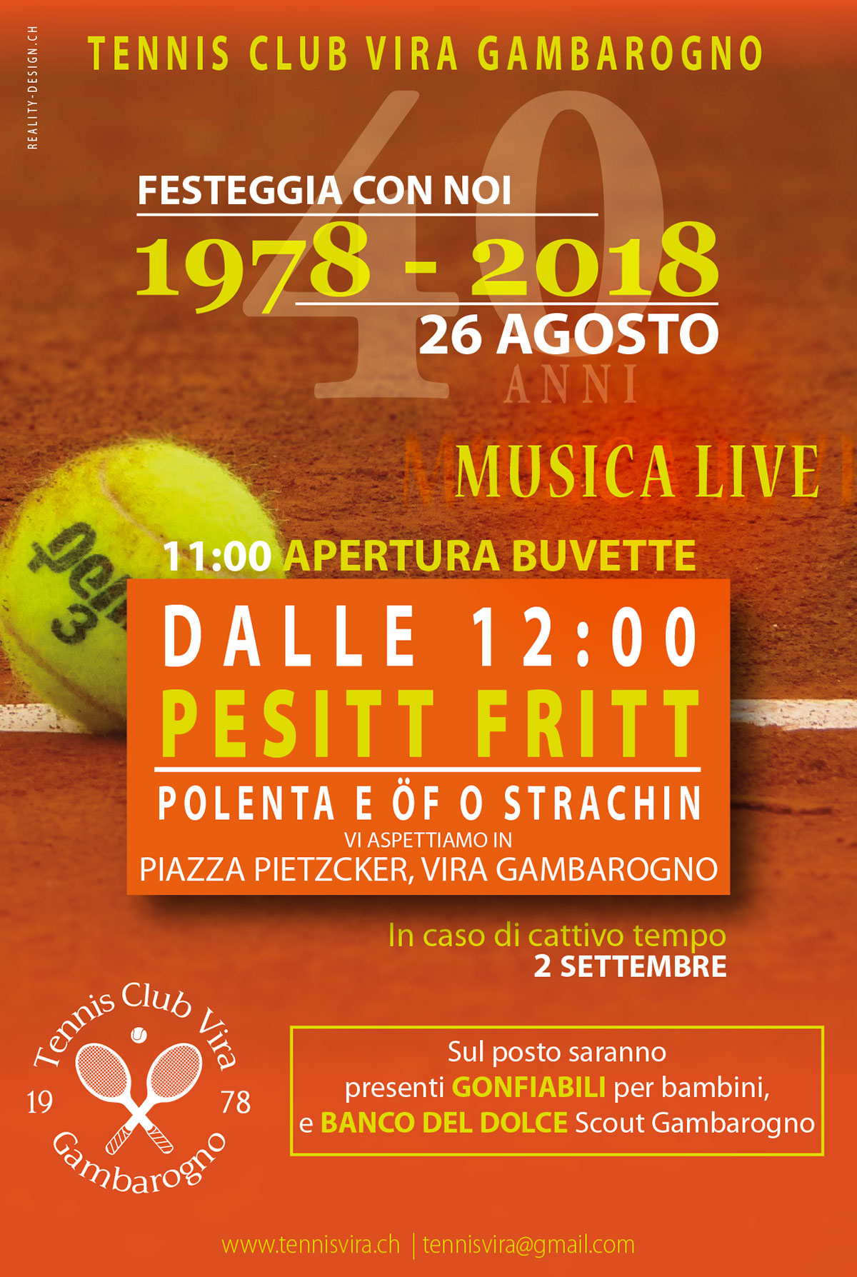Flyer TENNIS CLUB VIRA GAMBAROGNO